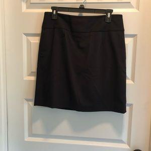 Black Loft pencil skirt size 10p